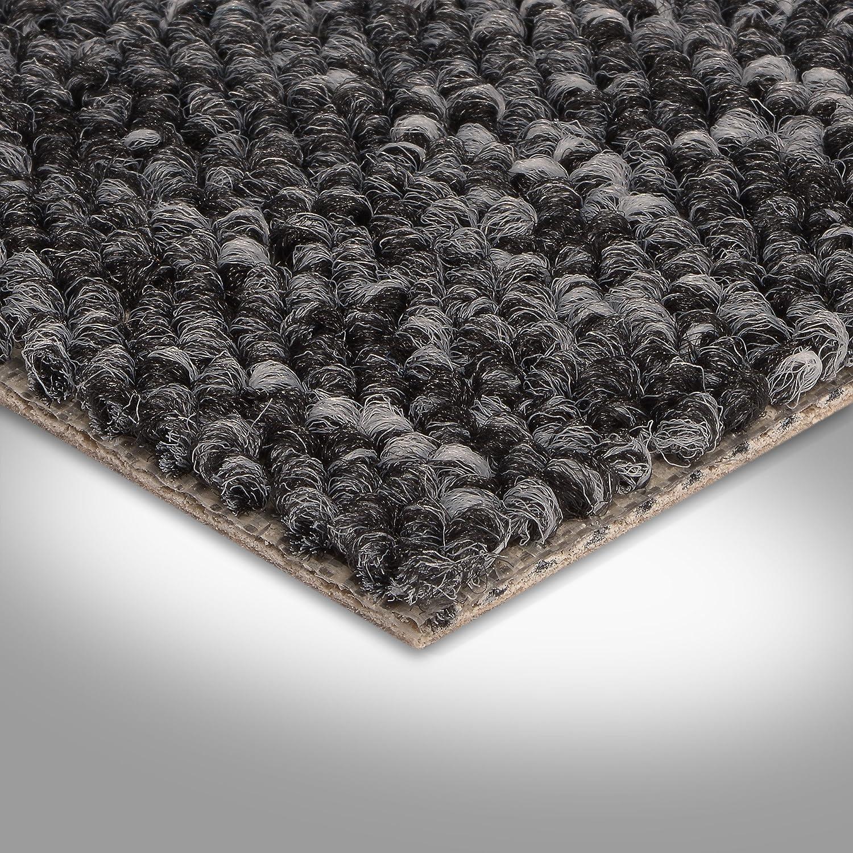 Teppichboden Auslegware Meterware Schlinge grau anthrazit 400 und 500 cm breit verschiedene L/ängen