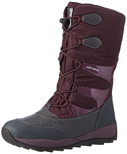 86cffed7f7 Geox Unisex Adults' J Orizont B Girl ABX C Snow Boots, Purple (DK ...
