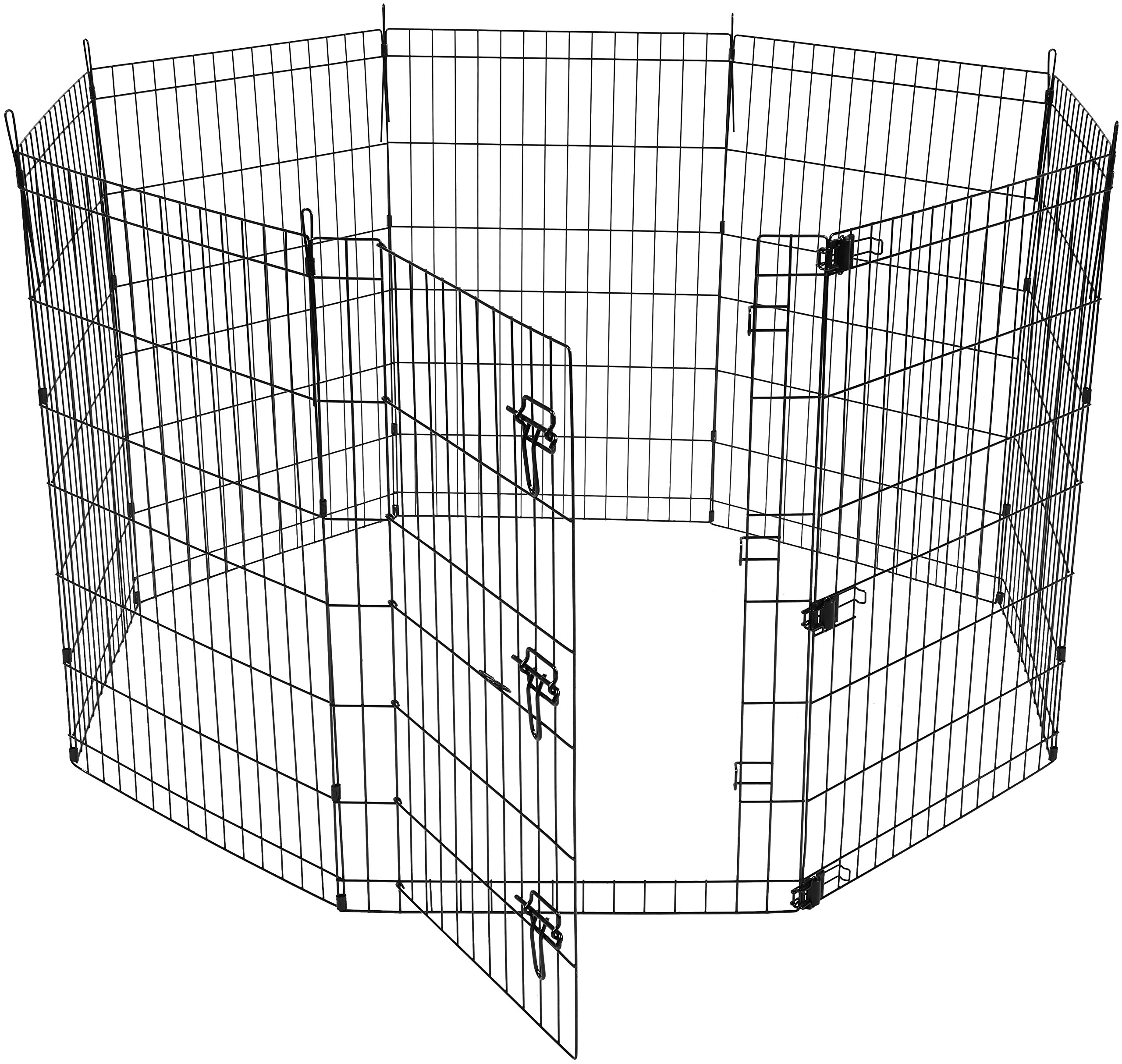 AmazonBasics Foldable Metal Pet Exercise and Playpen with Door, 36'' by AmazonBasics (Image #3)