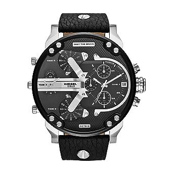 Diesel Reloj Hombre de Analogico con Correa en Cuero DZ7313: Amazon.es: Relojes