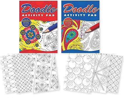 Pack de 2 Libros de colorear para niños o adolescentes. 2 cuadernos de notas para colorear con diferentes patrones: Amazon.es: Oficina y papelería