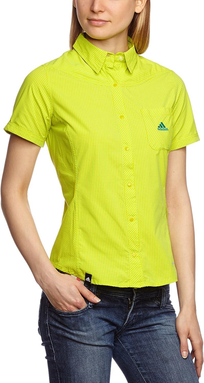 adidas Camisa Hiking Trekking Check Amarillo Vivid Yellow s13 ...