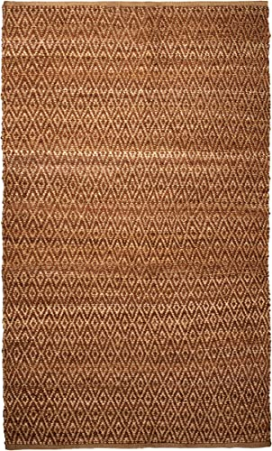 SUPERIOR Millbrook Diamond Handwoven Reversible Natural Jute Indoor Area Rug