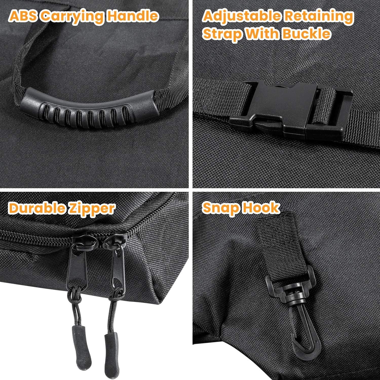 Black Freedom Panel Hard Top Storage Bag With Handle For 2007-2020 Jeep Wrangler JK JKU JL JLU Sports Sahara Freedom Rubicon Unlimited 2-Door /& 4-Door