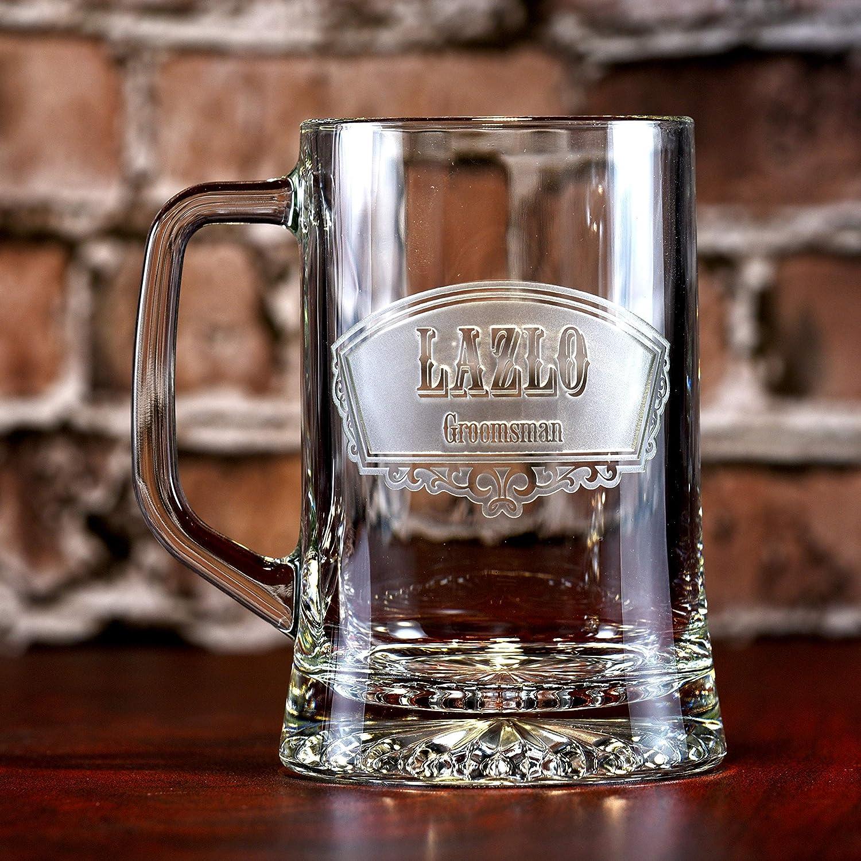 Groomsmen Beer Mugs, Best Man Gifts (set of 4)