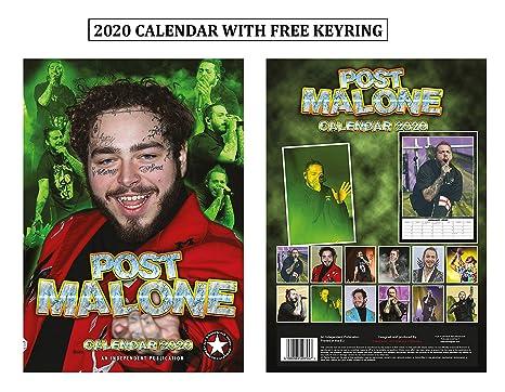 Post Office Calendar 2020 Amazon.: Post Malone Calendar 2020 + Post Malone Keychain