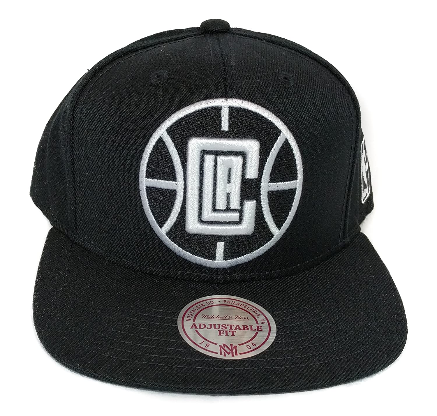 79b867997 Mitchell & Ness Los Angeles Clippers Black Classic HWC Vintage Solid Wool  Adjustable Snapback Hat NBA