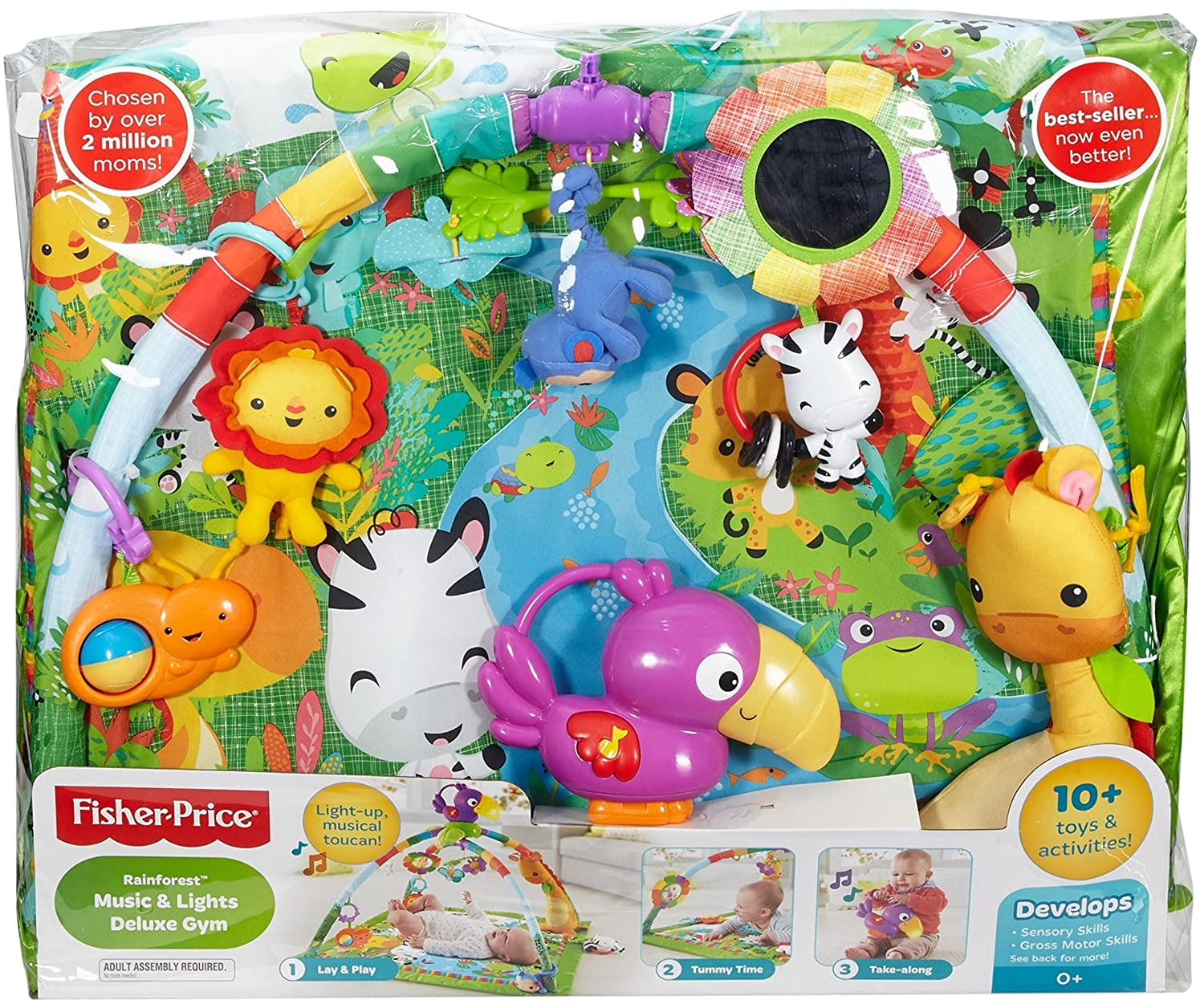 e2e117348 Buy Fisher-Price Baby Boy s And Girl s Deluxe Rainforest Gym Play ...