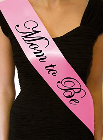 Baby Pink Mom To Be Baby Shower Sash   Great Gift, Decoration