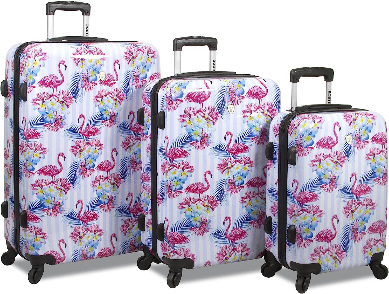 Rolite Flamingo 3-Piece Hardside Spinner Combination Lock Luggage Set