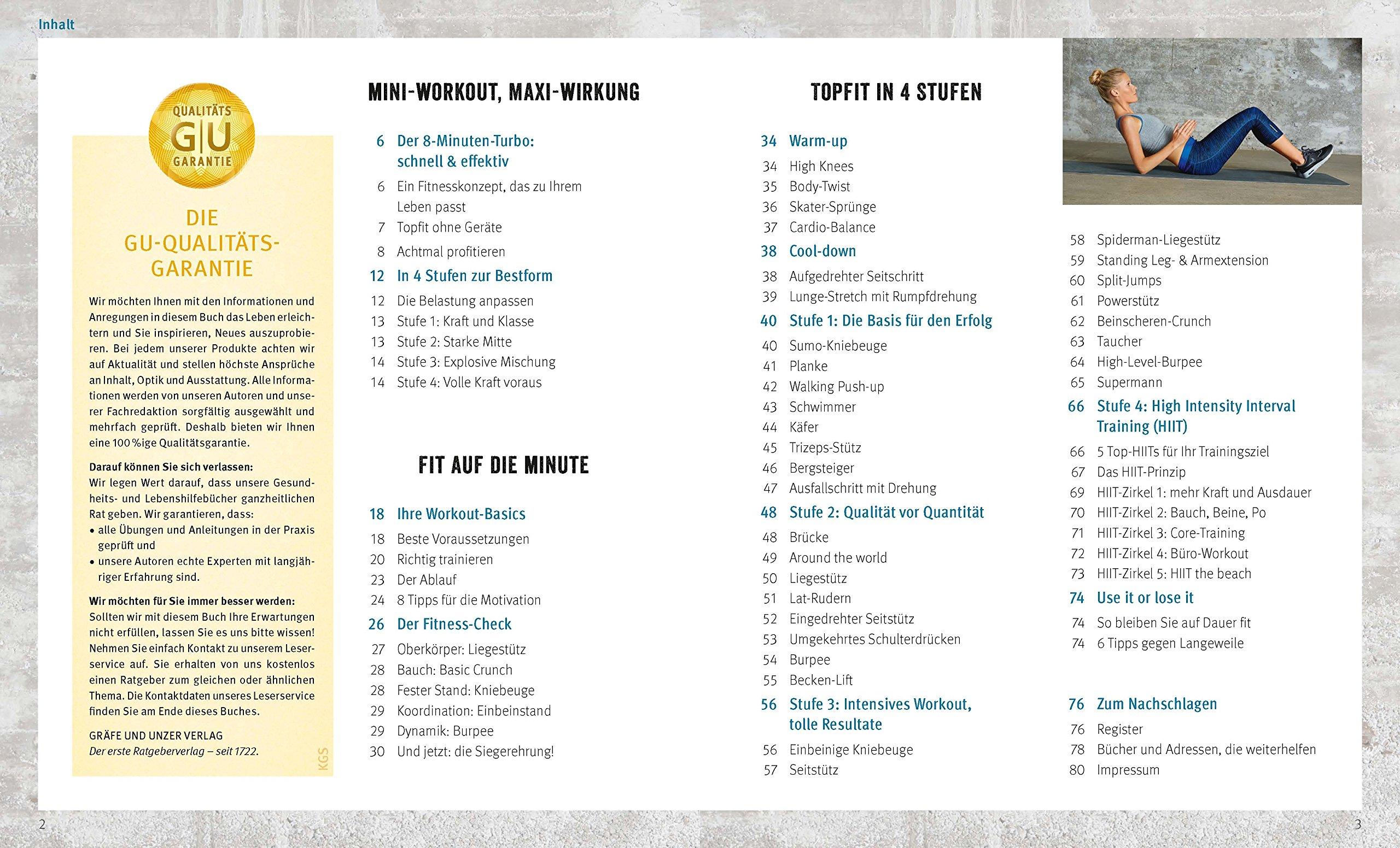 Das 8-Minuten-Muskel-Workout ohne Geräte mit DVD GU Multimedia Körper,  Geist & Seele: Amazon.de: Thorsten Tschirner: Bücher