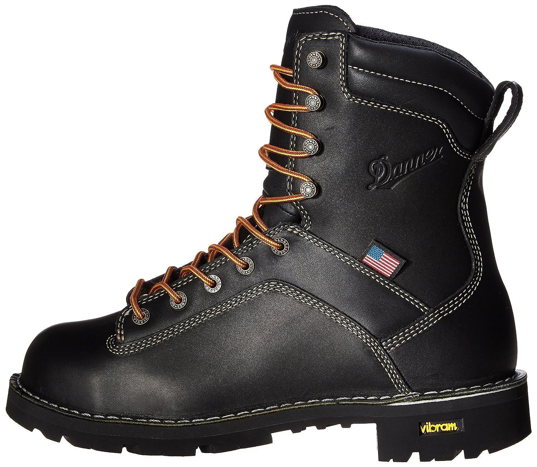 Danner Mens Quarry USA 8-Inch Alloy Toe Work Boot Quarry USA 8 Black NMT-M