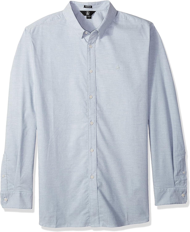Volcom Mens Oxford Stretch Long Sleeve Button Up Shirt