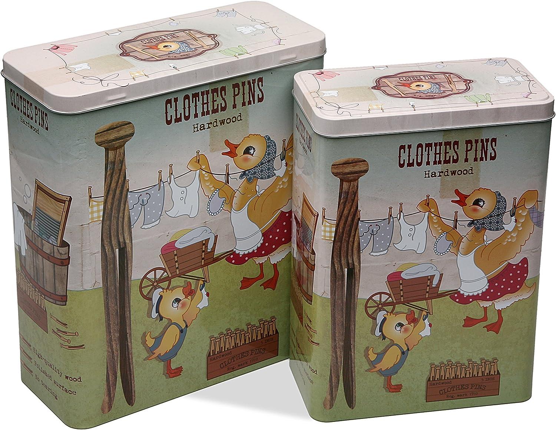 Zings Pincers SET 2 CAJAS RECTANG PINZAS, Metal, Multicolor, sin datos: Amazon.es: Hogar