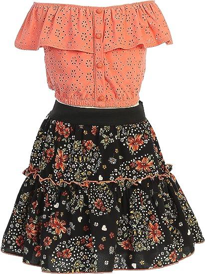 BNY Corner Girls 3 Pieces Dress Set Dress Necklace Jacket Flower Girl Dress 4-14