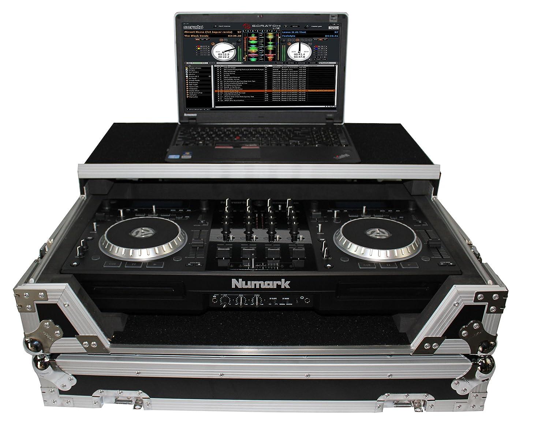 ProX XS-MIXDECK-WLT Numark Mixdeck Controller DJ Flight Case With Laptop Shelf and Wheels Fits Mixdeck and Mixdeck Quad
