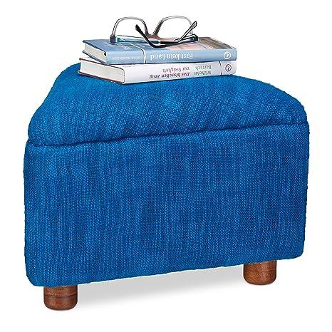 Amazon.com: Relaxdays – Taburete de algodón Reposapiernas ...