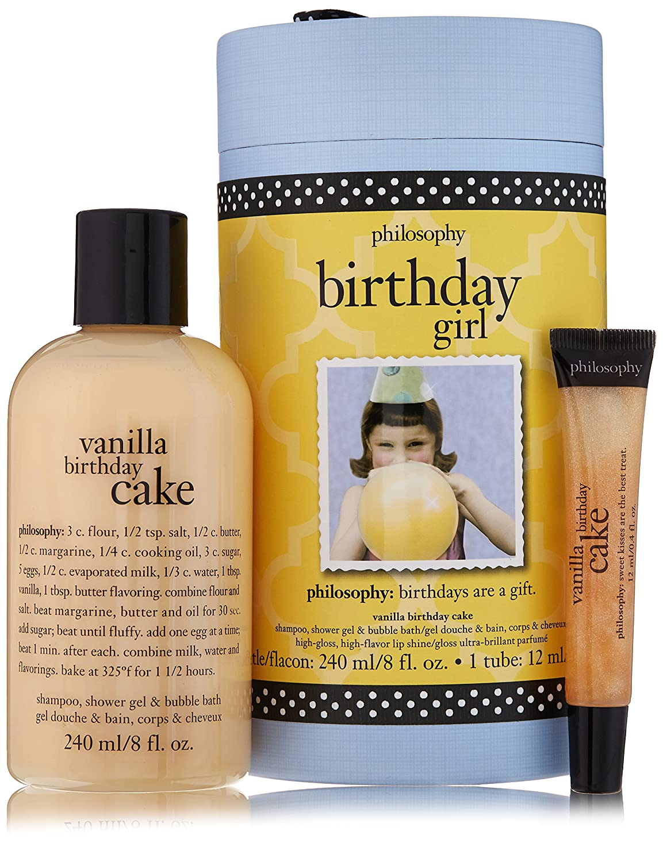 Awe Inspiring Amazon Com Philosophy Birthday Girl Gift Set Beauty Birthday Cards Printable Giouspongecafe Filternl