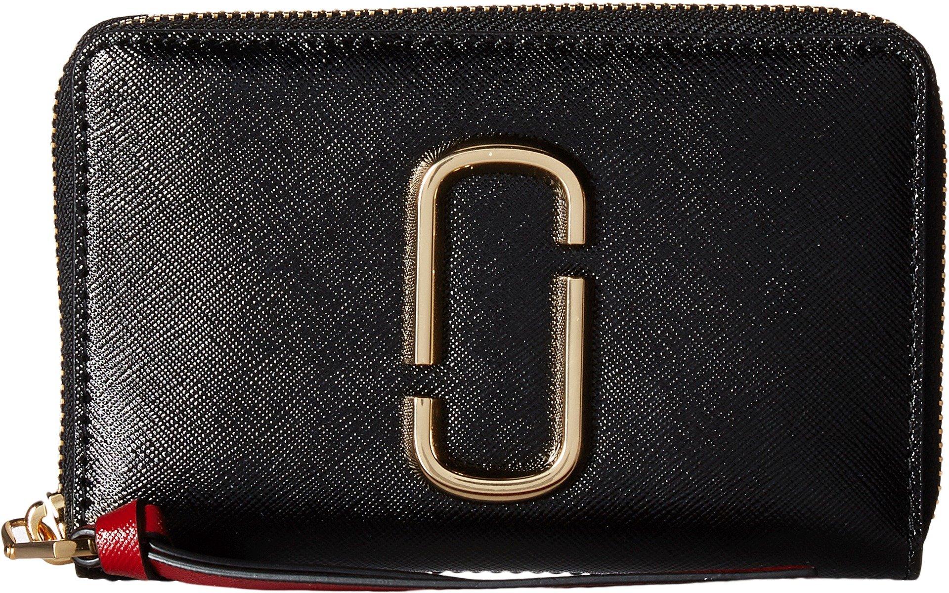 Marc Jacobs Women's Snapshot Small Standard Wallet, Black/Chianti, One Size