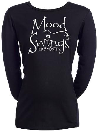 0262cc8fdef11 Spoilt Rotten - Mood Swings For 9 Months - Women's Maternity T-Shirt Black,