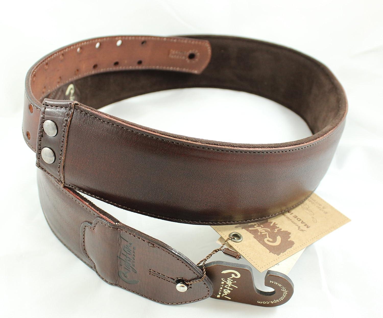 Guitar Strap FUNKY Vintage BR Leather Brown
