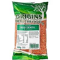 Origins Organic, Red Lentils, 500g