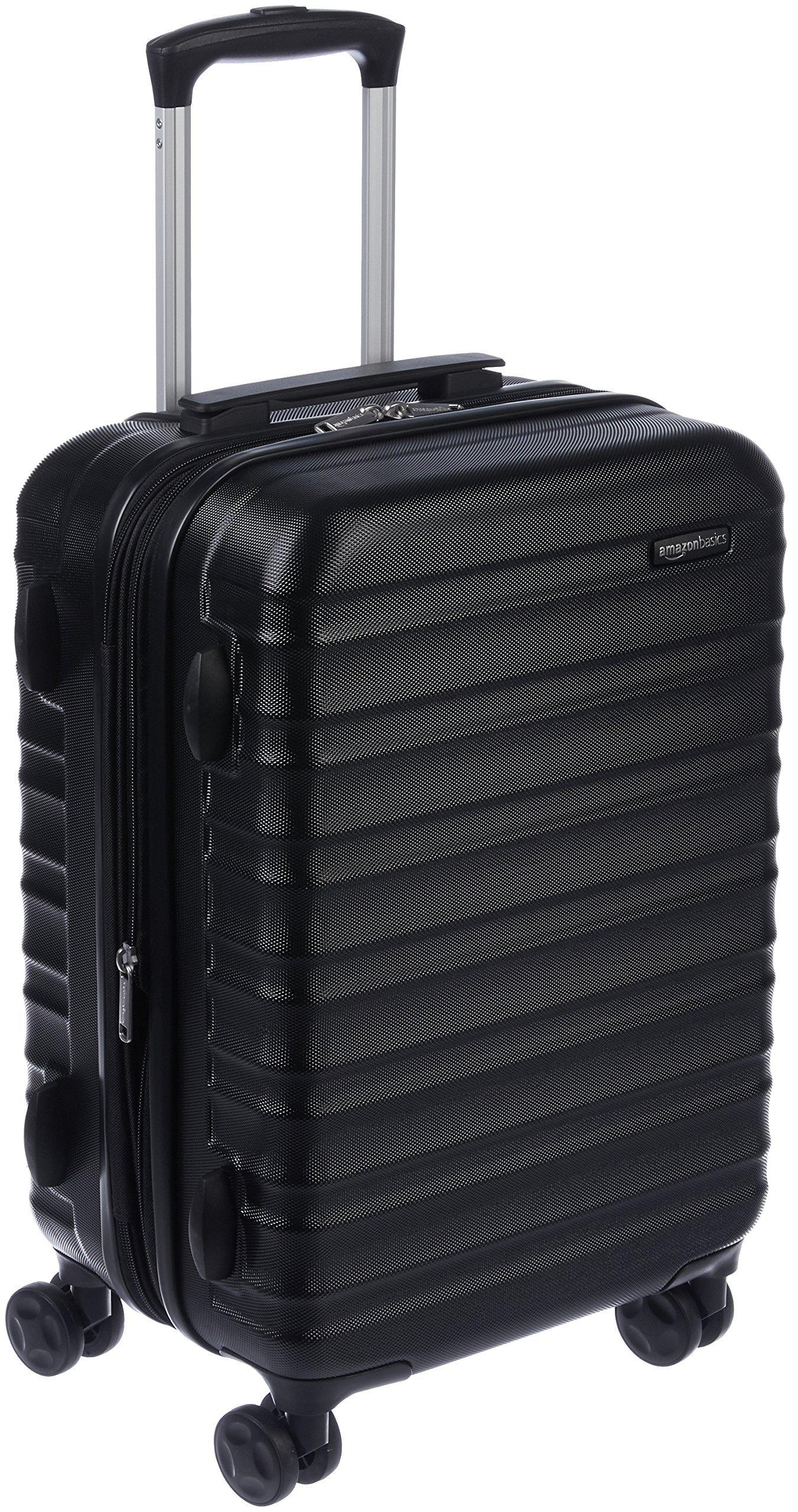 cb27623728 AmazonBasics Valise de voyage à roulettes pivotantes, Noir, 55 cm