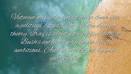 Amazon com: Donald Sutherland - Famous Quotes Laminated