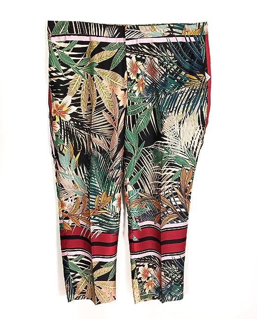 Zara Pantaloni Donna multicolore Small: Amazon.it