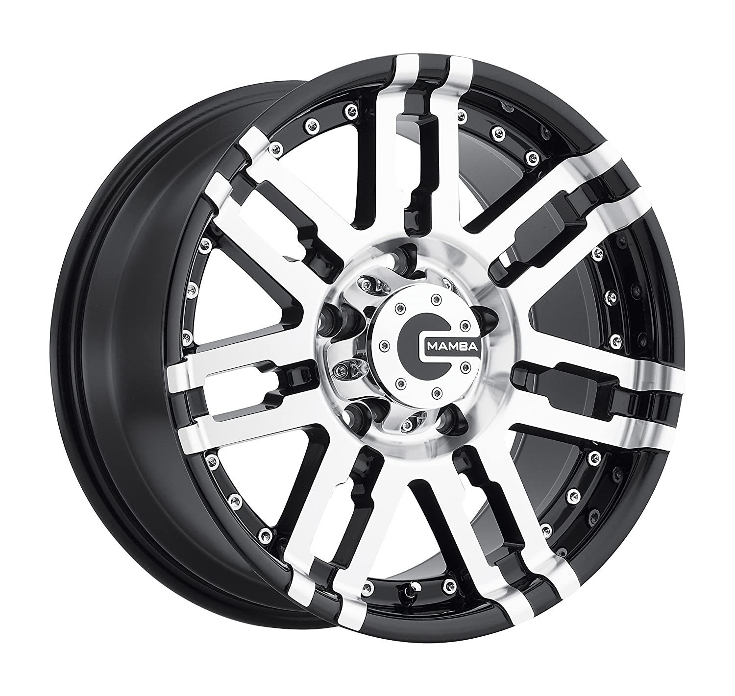 Mamba M2X Gloss Black Wheel with Painted Machined Finish 18 x 9. inches //5 x 139 mm, 19 mm Offset