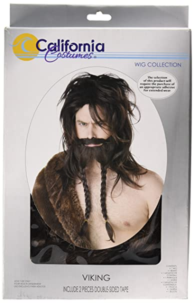 California Costumes Womens Viking Wig Beard and Moustache, Brown, One Size