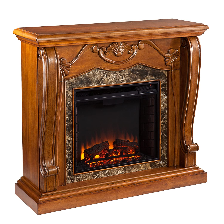 amazon com southern enterprises cardona electric fireplace