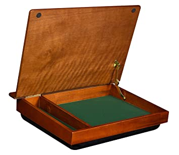 Review LapDesk Schoolhouse Wood LapDesk with storage (45075)
