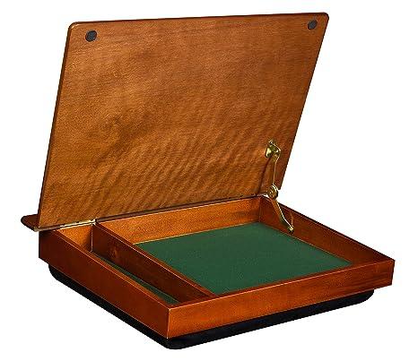 amazon com lapdesk schoolhouse wood lapdesk with storage 45075 rh amazon com wooden laptop lap desk wooden lap desk with legs