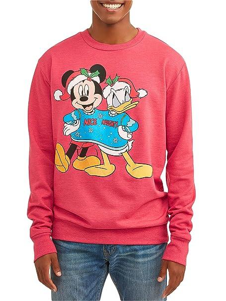 Disney Men's Mickey Mouse Donald Duck Nice Naughty Holiday