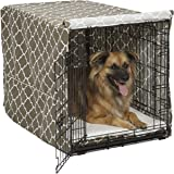 MidWest Homes for Pets Dog Crate Cover | Black Polyester Crate Cover or Stylish Geometric Pattern Crate Covers