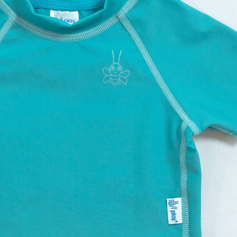 wet or dry Short Sleeve Rashguard Shirt i play sun protection All-day UPF 50
