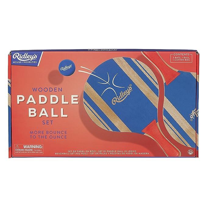 Amazon.com: Ridleys House of Novelties Paddle Ball, Blue ...