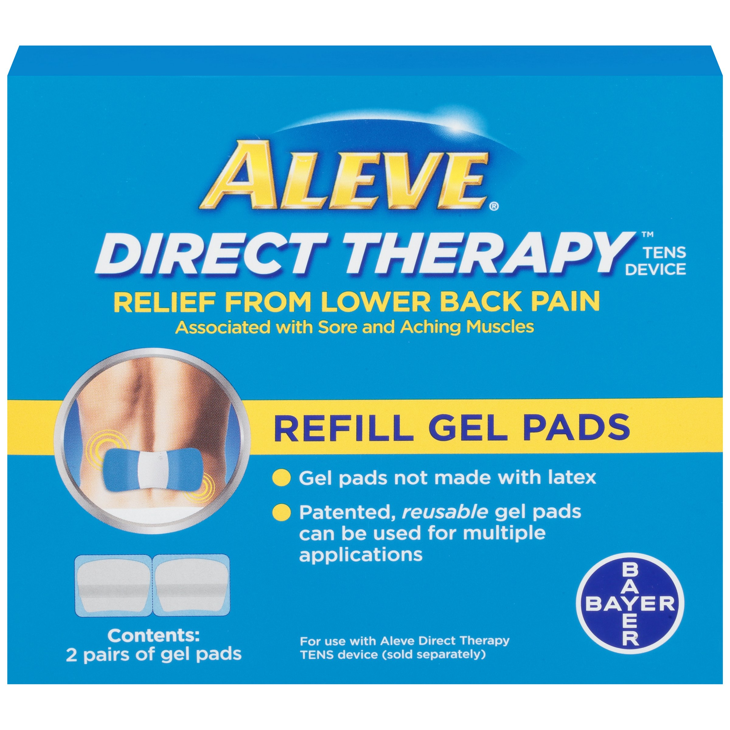 Aleve Direct Therapy - Refill Gel Pads (2 pairs of gel pads) by Aleve