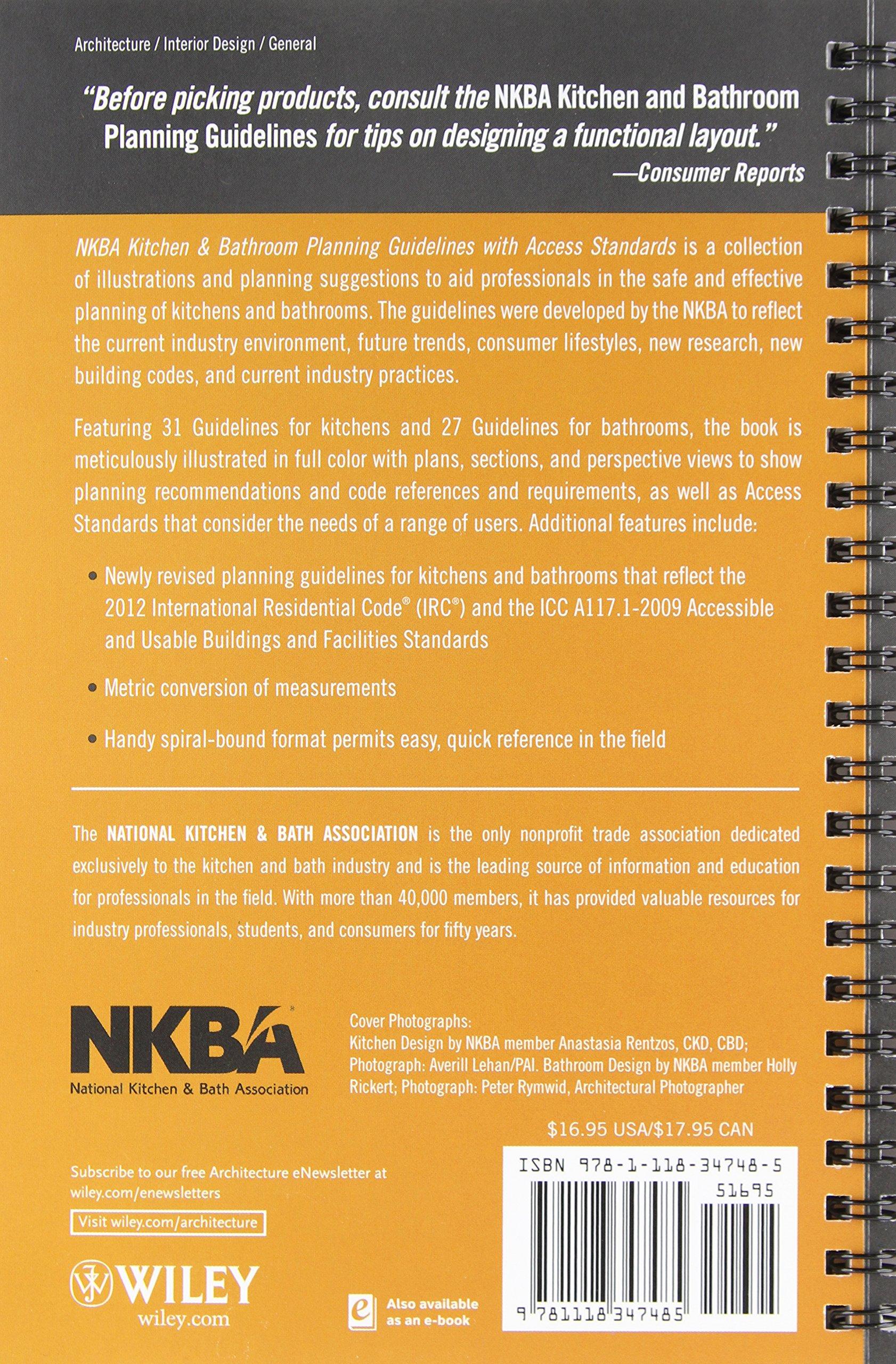 National kitchen and bath association guidelines - Nkba Kitchen And Bathroom Planning Guidelines With Access Standards Nkba National Kitchen And Bath Association 9781118347485 Books Amazon Ca