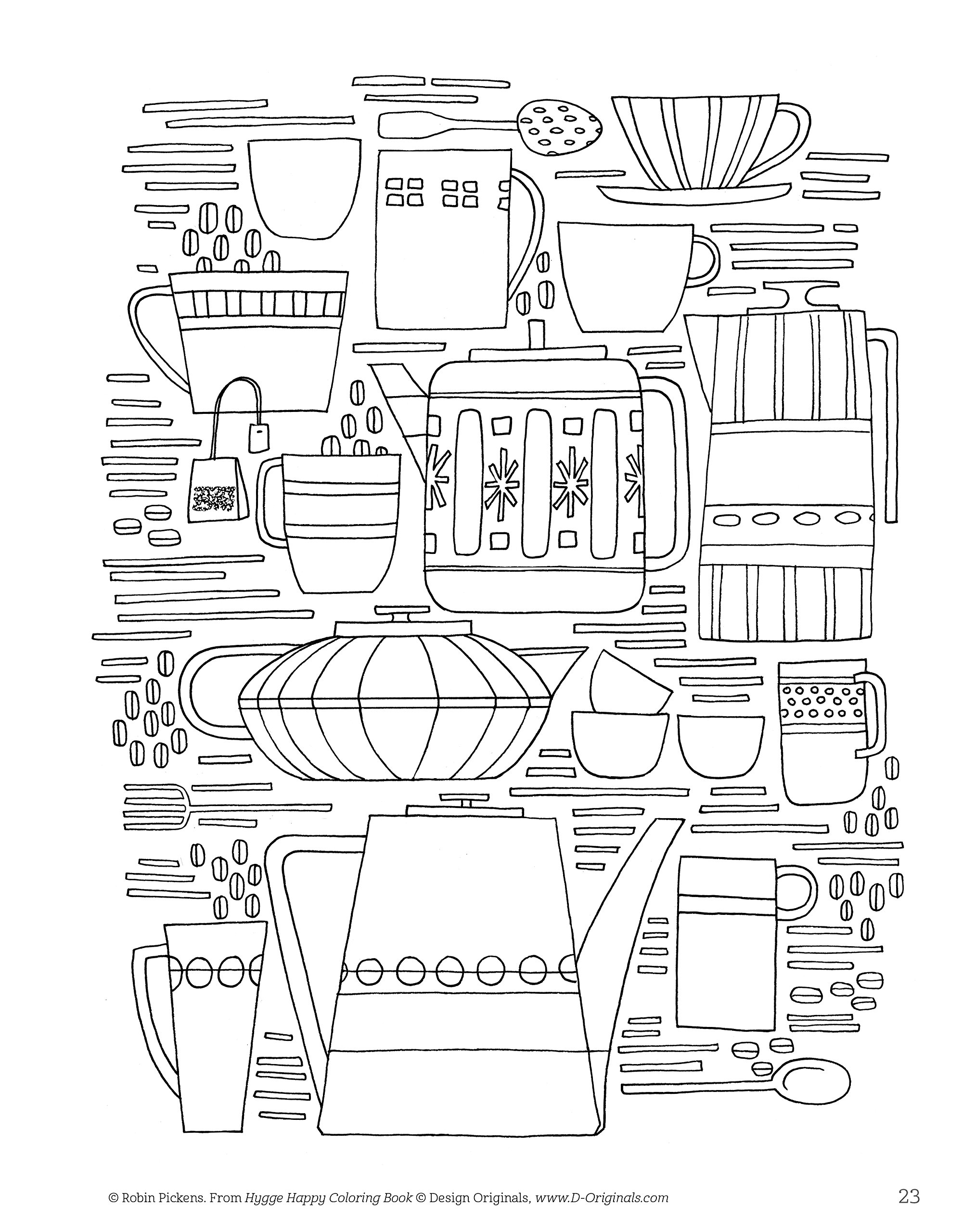 amazon com hygge happy coloring book coloring pages for a cozy