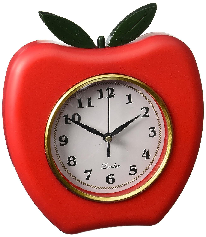 Kole Red Apple Wall Clock Amazon Kitchen Home