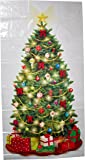 """Classic Christmas Tree Giant Scene Setters Add‑Ons, Wall Decoration, Plastic, 65"""" x 33.5"""""""
