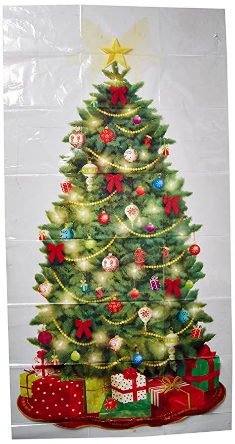 classic christmas tree giant scene setters addons wall decoration plastic 65quot