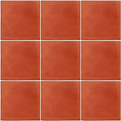 Amazoncom Washed Terracotta Mexican Ceramic Handmade Solid X - 4x4 terracotta tile