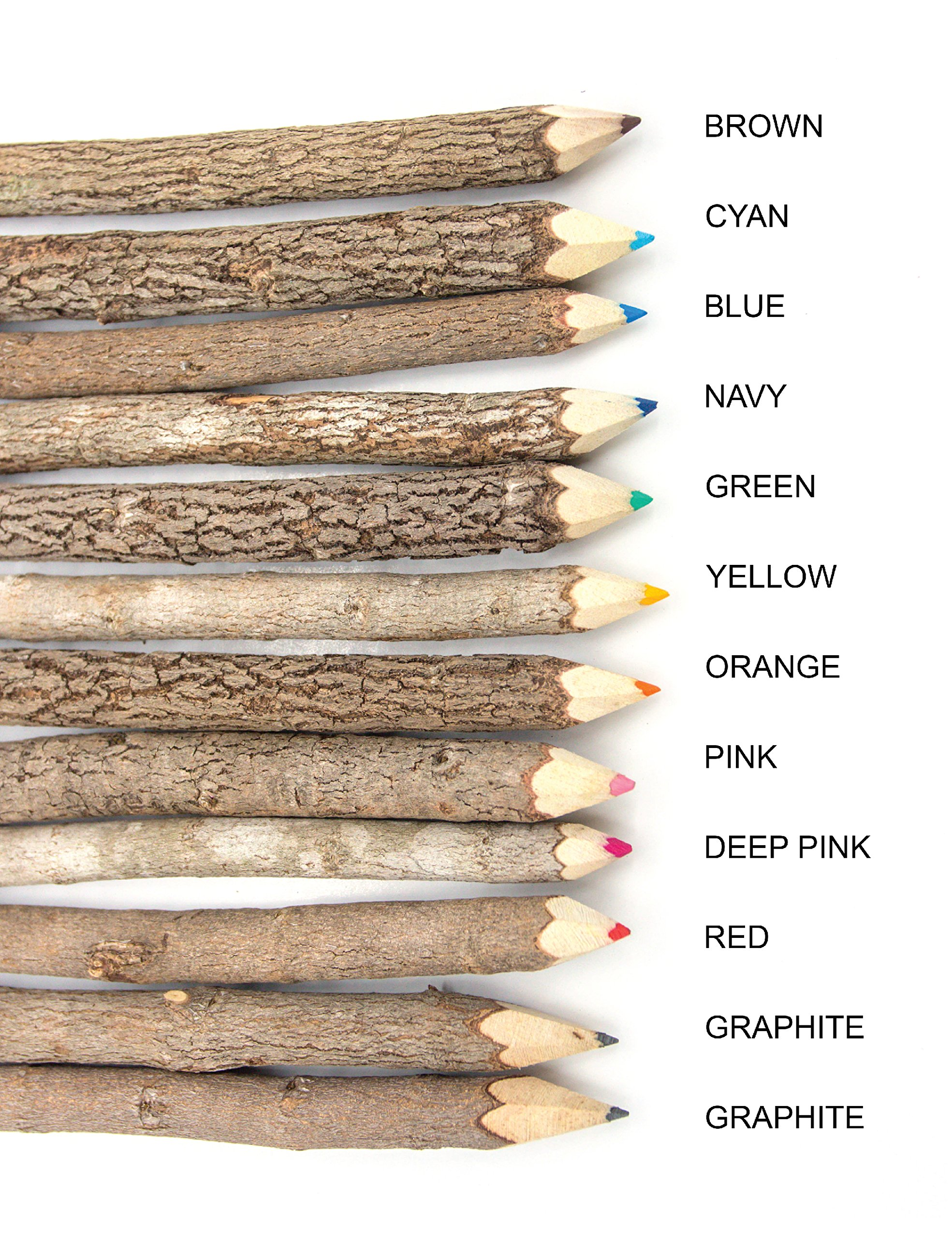 Assorted-Stick Twig Colored Outdoor Wooden Pencils Tree Child Camping Decorative Color by BSIRI (Image #3)