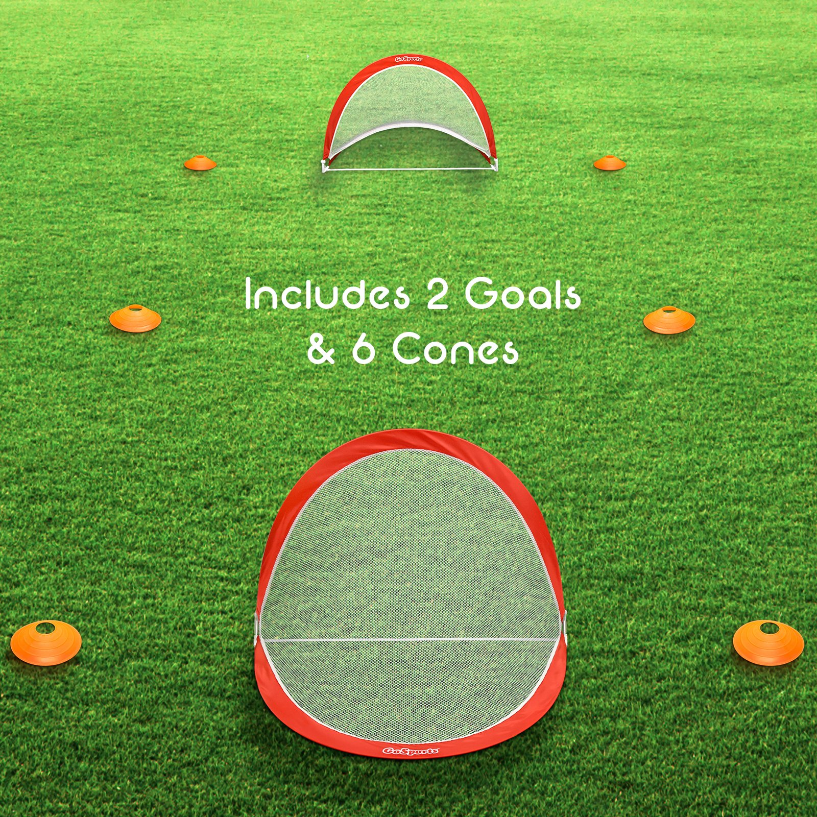 GoSports Portable Pop-Up Soccer Goal (Set of 2), Red/White, 4' by GoSports (Image #7)