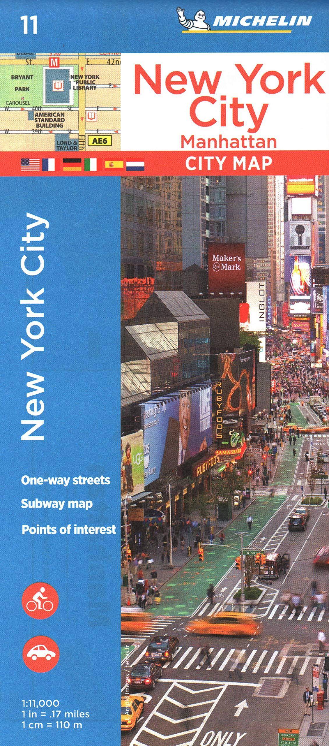 Plano New York City, Manhattan (Planos Michelin) (Inglés) Mapa – Mapa doblado, 1 ene 2018 2067228870 Maps & Road Atlases Ny Pa)