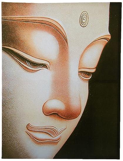 ORIENTAL FURNITURE Buddha Canvas Wall Art: Amazon.co.uk: Kitchen ...