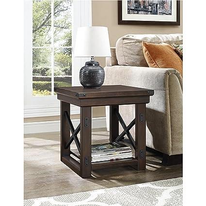 Ameriwood Home Wildwood Wood Veneer End Table Espresso